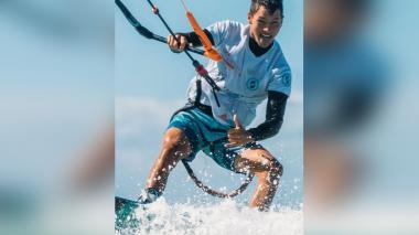Kitesurfista colombiano Valentín Rodríguez, segundo en Parada Mundial