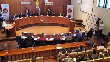 Sesión de la Corte Constitucional. Imagen de referencia.