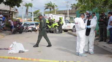 Agentes del CTI realizaron el levantamiento del cadáver de Jesús Peñate.