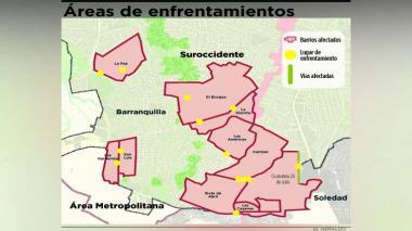 Priorizan 13 sectores de la ciudad para atajar peleas bajo la lluvia