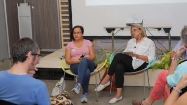 Farides Lugo junto a Bertha C. Ramos en Libraq.