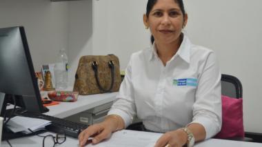 Patricia Vásquez, coordinadora del grupo de prevención, vigilancia y control en la territorial de Sucre,