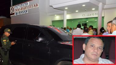 Imagen de la camioneta baleada el 25 de febrero pasado en Valledupar.