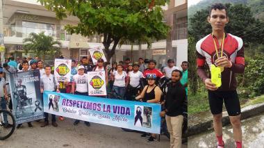 Allegados al joven realizaron una protesta.