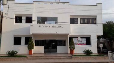 Fachada de la Alcaldía El Molino, en La Guajira.