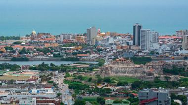 Vista del sector norte de Cartagena e incluye los sectores del centro histórico y Pie del Cerro.