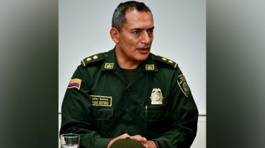 General Mariano Botero, director de la Regional 8 de la Policía.