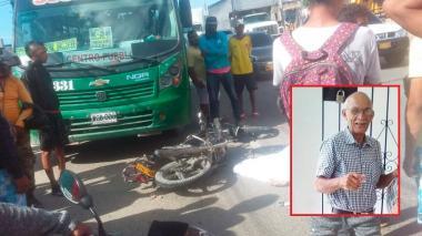 En video | Motociclista muere tras ser arrollado por volqueta en la Circunvalar