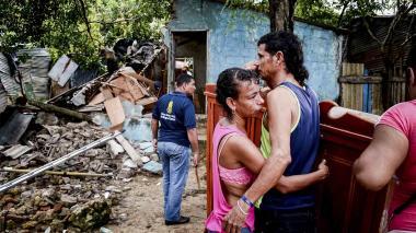 A Jorge y a Yoledis la lluvia les derrumbó la casa y los sueños