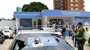 Vándalos atacan la sede de campaña de Elsa Noguera