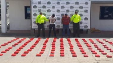 Caen 130 libras de marihuana en Maicao: 2 capturados