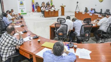 Los concejales de Barranquilla durante una de las sesiones de la plenaria.