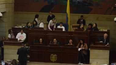 Plenaria de Cámara durante debate.