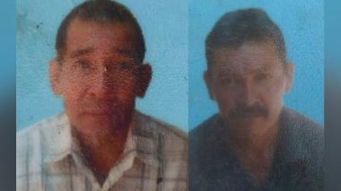Jesús Antonio Aroca Ayola y Germán Oyola Tole, pescadores asesinados.