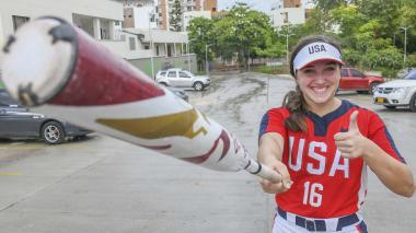 Hallie Wacaser se ve muy feliz en Barranquilla.