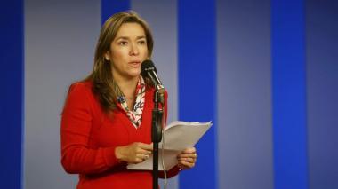 La ministra de Minas y Energía, María Fernanda Suárez.