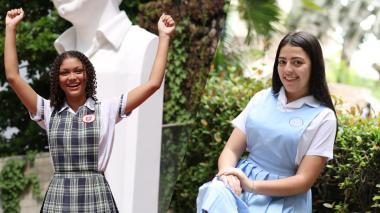 Valentina Pallares Castillo, de la IED Evardo Turizo, y Yuliana Zuluaga Saltarín, del colegio La Enseñanza, se destacaron con los mejores puntajes de Barranquilla