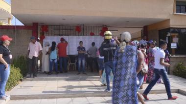 Aspecto de una jornada electoral pasada en la Costa.