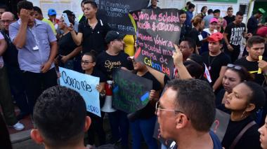 En video | Protestas en Soledad por denuncias sobre compra de votos en elecciones
