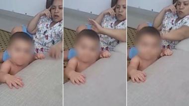 Revelan video de mujer que golpea a bebé que cuidaba en Riomar