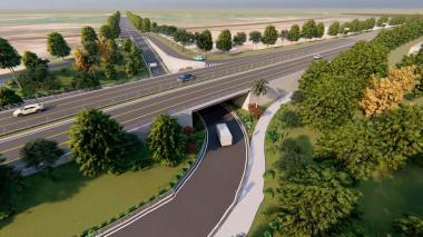 El proyecto vial, de 3,6 kilómetros, permitirá la interconexión del nuevo puente con el Puerto de Palermo.