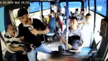 Captura de pantalla del momento de uno de los atracos.
