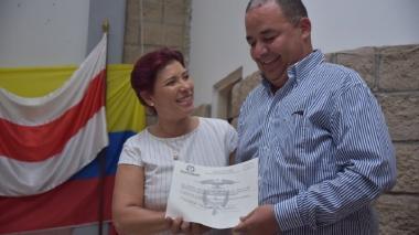 Alcalde electo de Baranoa, Roberto Celedón, recibió credencial de la Registraduría