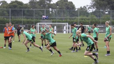 Equipo de fútbol femenino de Australia.