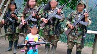 Menores reclutados por las Farc. Imagen de referencia