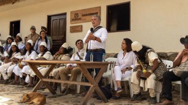 Duque entregó primera registraduría indígena en la Sierra Nevada