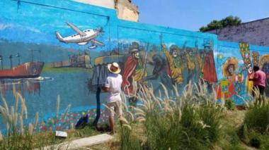 El mural con el que Barrio Abajo conmemora el Bicentenario