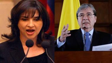 Claudia Blum y Carlos Holmes Trujillo, ministros designados tras la dimisión de Mindefensa.