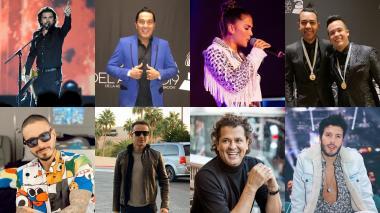 Algunos de los artistas colombianos nominados a los Grammy Latino 2019.
