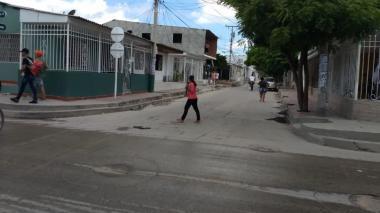 Sector del barrio Soledad 2000, donde se registró el homicidio.