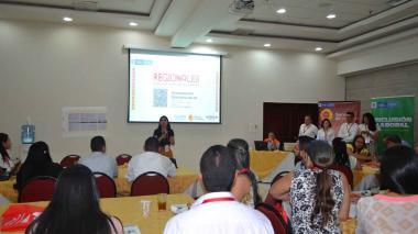 Aspecto del evento del Servicio Público de Empleo.