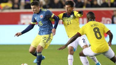 Con gol de Mateus Uribe, Colombia gana 1-0 a Ecuador en amistoso