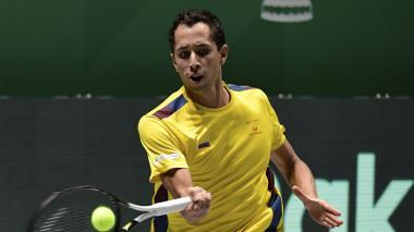 El colombiano Daniel Galán no pudo superar al australiano Alex de Miñaur.