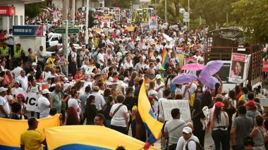 El paro nacional visto por los manifestantes y el Gobierno