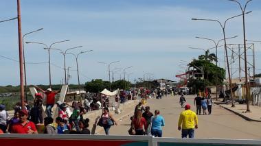 Frontera de Colombia con Venezuela, en La Guajira.