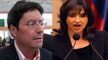 Francisco Santos y Claudia Blum, embajador de Estados Unidos y la nueva canciller, respectivamente.