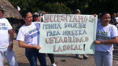 """Pronta solución"" pidieron mediante pancartas."