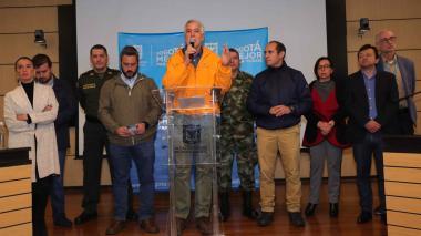 El alcalde de Bogotá, Enrique Peñalosa, durante una rueda de prensa en la capital del país.