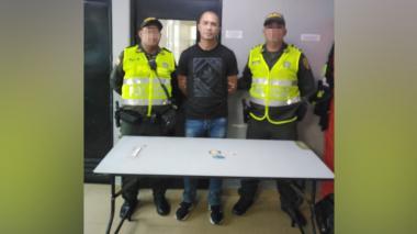 Rubén Darío Balanta Iriarte, capturado.