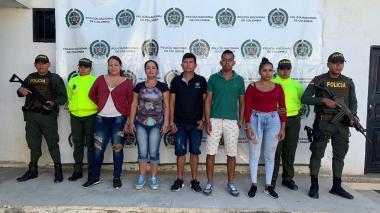 Los señalados integrantes de la banda delincuencial 'los Pachencha.