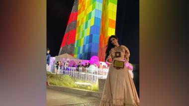 La diseñadora Paulina Palis, revelación del Barranquilla Fashion Week por segundo año consecutivo.