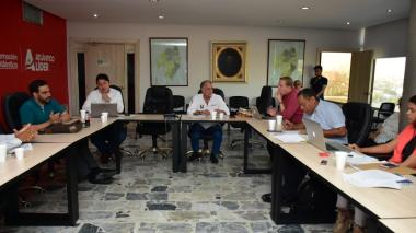 Aspecto de la reunión del Consejo Superior de la Universidad del Atlántico.