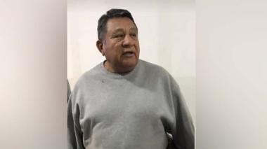 José María Barros, Chema Bala, cuando arribó a Bogotá desde EEUU.