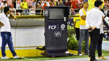 El VAR ubicado  en el estadio Metropolitano.