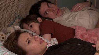 Scarleth Johansson en una escena de 'Marriage Story' junto a Adam Drive.