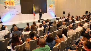 Iván Duque, presidente , dio el anuncio en el foro 'Defender a los defensores: 71 años de la Declaración Universal de los Derechos Humanos', en Cartagena.
